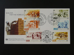 FDC Sans-abris Shelter For Homeless Nations Unies United Nations NY + Wien + Geneve 1987 Ref 101521 - FDC