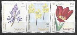 2013 ALBANIE 3112-14** Fleurs, Tryptique - Albania