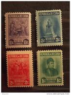 Cuba 1947 Marta Abreu Philanthrope Yv 299-302 MNH ** - Unused Stamps