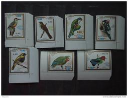 Cuba1991 Timbres Pour Lettres Par Exprès Oiseaux Autochtones Yv 3133-3139 MNH ** - Unused Stamps