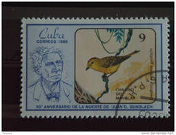 Cuba 1986 Juan C. Gundlach Ornithologue Oiseau Yv 2677 O - Used Stamps