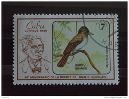 Cuba 1986 Juan C. Gundlach Ornithologue Oiseau Yv 2676 O - Used Stamps