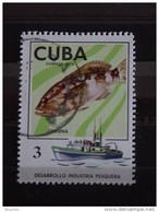 Cuba 1975 Visvangst La Pêche Fishing Poisson Labre Yv 1829  O - Used Stamps
