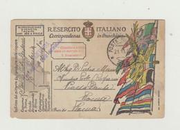 FRANCHIGIA ILLUSTRATA RICORDO AI SOLDATI .. - POSTA MILITARE 262 DEL 1918 CON CENSURA WW1 - Franchise