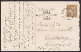 "355, EF, Werbestempel ""Charlottenburg- Zeppelin-Eckener-Spende"", 1926 - Covers & Documents"