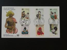 FDC Survie De L'enfant Allaitement Breast Feeding Nations Unies United Nations NY + Wien + Geneve 1985 Ref 101530 - FDC