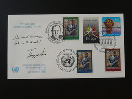 FDC Trygve Lie Nations Unies United Nations NY + Wien + Geneve 1987 Ref 101531 - FDC