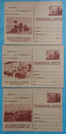 Bulgaria Bulgarie 3 Illustrated Postal Stationeries P91b Entiers Postaux 1951 Mint - Postcards