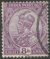 India. 1911-22 KGV. 8a Used. Single Star W/M SG 180 - 1911-35 King George V