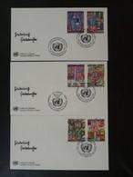 Série De 3 Set Of 3 FDC Hundertwasser Nations Unies United Nations Ref 101546 - FDC