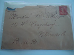 FRANCE  COVER  1916   WITH POSTMARK  VEIRIFR  DU  LAC SAVIOE  2 SCAN - Unclassified
