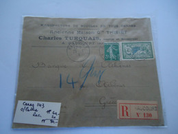 FRANCE  COVER  REGISTERED  RAUCOURT  2 SCAN - Unclassified