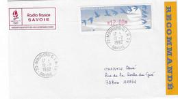1992 Centre International Radio TéléVision De Moûtiers Pour Les Jeux Olympiques D'Albertville (cachet De Service) - Invierno 1992: Albertville