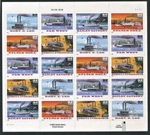 258 ETATS UNIS (USA) 1996 - Yvert 2534/38 X 4 (Feuille) - Bateau Vapeur - Neuf ** (MNH) Sans Trace De Charniere - Ungebraucht