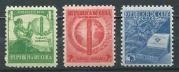 Cuba YT N°257/259 Tabac De La Havane Neuf ** - Unused Stamps