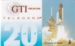 USA - Space Shuttle, Courtesy Of NASA, GTI Telecom Prepaid Card 20 Units, Unused - Unclassified