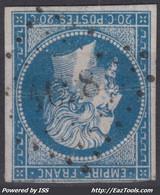 FRANCE CLASSIQUE : EMPIRE N° 14 RARE OBLITERATION PC 1628 LANDEVANT MORBIHAN - 1853-1860 Napoleon III