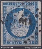 FRANCE CLASSIQUE : EMPIRE N° 14 OBLITERATION PC 614 CARENTOIR MORBIHAN - 1853-1860 Napoleon III