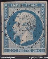 FRANCE CLASSIQUE : EMPIRE N° 14 OBLITERATION PC 1238 LE FAOUET MORBIHAN - 1853-1860 Napoleon III