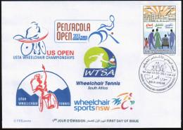 ARGELIA 2014 - FDC  Wheelchair Tennis Disabled Handicap Handicapés Behinderten Discapacitados - Handicaps