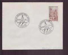 """France, Enveloppe Avec Cachet Commémoratif """" Jumelage Philatélique """" Du 9 Octobre 1971 à Vierzon - Gedenkstempels"""