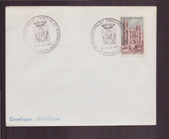 """France, Enveloppe Avec Cachet Commémoratif """" Congrès Philatélique """" Du 9 Octobre 1971 à Rive-de-Gier - Gedenkstempels"""