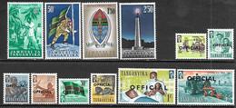 Tanganyika  1961-2  Sc#57-60, O21-8 12 Diff  MLH   2016 Scott Value $4.25 - Tanganyika (...-1932)