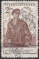CZECHOSLOVAKIA 1951 30th Anniversary Of Czechoslovak Communist Party - 2k. Factory Militiaman FU - Used Stamps