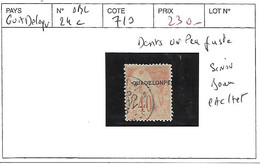 GUADELOUPE N° 24 C OBL DENTS UN PEU JUSTE SINON BEAU CACHET - Used Stamps