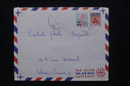RÉUNION - Enveloppe Pour La France En 1964, Affranchissement Semeuse / Blason Surchargés CFA - L 109067 - Covers & Documents