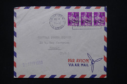 RÉUNION - Enveloppe De St Denis Pour La France En 1959, Affranchissement Moissonneuses Surchargés CFA - L 109068 - Covers & Documents