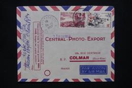 RÉUNION - Enveloppe De St Denis Pour La France En 1957, Affranchissement Surchargés CFA - L 109069 - Covers & Documents