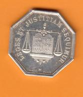 $ France Châteauroux Indre (36) Jeton Médaille Argent  Notaires De L'arrondissement De Châteauroux ..  Lerouge 85 - Professionnels / De Société