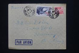RÉUNION - Enveloppe De St Denis Pour La France En 1949, Affranchissement Surchargés CFA - L 109072 - Covers & Documents