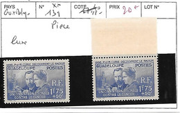 GUADELOUPE N° 139 ** - Unused Stamps