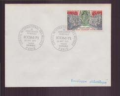 """France, Enveloppe Avec Cachet Commémoratif """" Conseil Des Musées """" Du 29 Août 1971 à Grenoble & Paris - Gedenkstempels"""