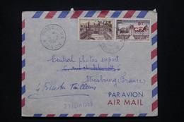 RÉUNION - Enveloppe De Entre Deux Pour La France En 1959, Affranchissement Surchargés CFA - L 109074 - Covers & Documents