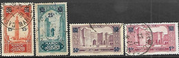 Fr Morocco  1930-1   Sc#120-3   Surcharges  Used    2016 Scott Value $5.70 - Used Stamps
