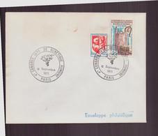 """France, Enveloppe Avec Cachet Commémoratif """" Congrès De Génétique Humaine """" Du 10 Septembre 1971 à Paris - Gedenkstempels"""