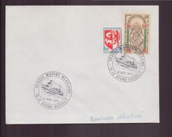 """France, Enveloppe Avec Cachet Commémoratif """" Drague Marine Mexicaine """" Du 4 Décembre 1971 Le Grand Quevilly - Gedenkstempels"""