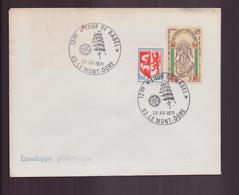 """France, Enveloppe Avec Cachet Commémoratif """" Tour De Babel """" Du 26 Décembre 1971 Le Mont D'Or - Gedenkstempels"""