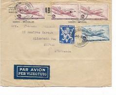 SH 1087. PA 8-9(3) + TP 683 BRUXELLES-AEROPORT 24.5.46 S/L. AVION Vers SYDNEY (Australie).Belle Destination - Covers & Documents