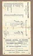 FACTURE Des Années 1930.. Grand HOTEL St PIERRE à VILLEDIEU Les POELES ( Manche 50) Prop. Michel JOURDAN - 1900 – 1949