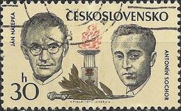 CZECHOSLOVAKIA 1973 Czechoslovak Martyrs During World War II - 30h - Jan Nalepka And Antonin Sochar FU - Used Stamps