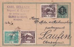 TCHECOSLOVAQUIE 1920        ENTIER POSTAL/GANZSACHE/POSTAL STATIONERY CARTE DE CHLUMIN - Postcards