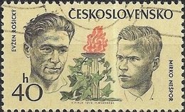 CZECHOSLOVAKIA 1973 Czechoslovak Martyrs During World War II - 40h. Evzen Rosicky And Mirko Nespor FU - Used Stamps