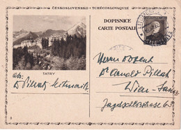 TCHECOSLOVAQUIE 1932        ENTIER POSTAL/GANZSACHE/POSTAL STATIONERY CARTE ILLUSTREE DE LITOMERICE - Postcards