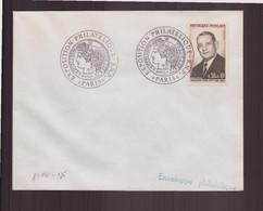 """France, Enveloppe Avec Cachet Commémoratif """" Exposition Philatélique """" Du 16 Janvier 1971 à Paris - Gedenkstempels"""