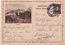 TCHECOSLOVAQUIE    ENTIER POSTAL/GANZSACHE/POSTAL STATIONERY CARTE ILLUSTREE - Postcards