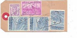 SH 1088. N° 422-770-771(3) Obl. TELEG.ISEGEM T 11.VII.1950 T S/Etiquette ECHANTILLON Par EXPRES V. KARLSRUHE - Covers & Documents